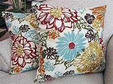 Sofa Pillows Decorative Sets Brown 3d Image by Floral Throw Pillow Cover Decorative Pillow Robins Egg Blue