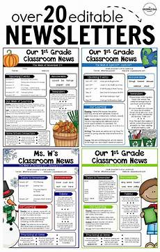 Editable Classroom Newsletter Editable Newsletter Templates Back To School Classroom