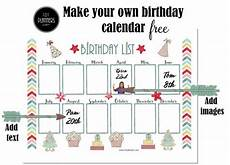 School Birthday Calendar Free Birthday Calendar Printable Amp Customizable Many