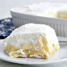 dreamy coconut and pineapple dessert layers of
