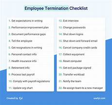 Employee Expectation List The Employee Termination Checklist That Protects You