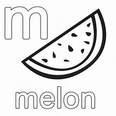 Malvorlagen Englisch Ausmalbild Englisch Lernen Melon Kostenlos Ausdrucken