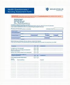 Nursing Patient Assessment Form Free 8 Nursing Assessment Form Samples In Pdf Ms Word