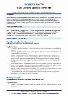 Marketing Specialist Resume Sample Marketing Resume Samples Examples And Tips