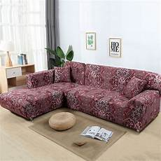 L Shaped Sectional Sofa Covers 3d Image by Sofa Covers For L Shape 2pcs Polyester Fabric Stretch