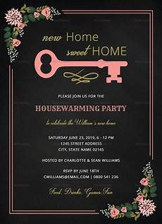 Housewarming Party Invitation Template Chalkboard Housewarming Invitation Design Template In Word