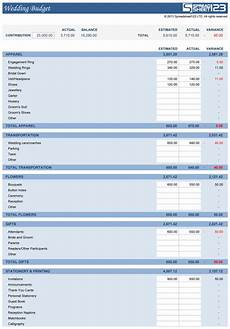 Wedding Cost Estimator Spreadsheet Wedding Budget Free Template For Excel