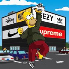 simpsons wallpaper supreme supreme bart wallpapers top free supreme bart