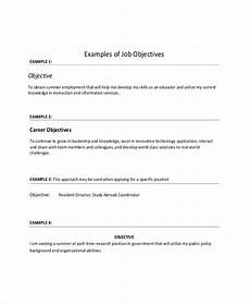 Objective In Resume Examples Sample Objective On Resume 8 Examples In Word Pdf