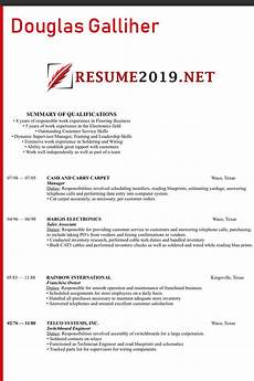 How To Write A Chronological Resume The Best Chronological Resume Format 2019 Best Resume 2019