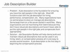 Jobs Builder Job Description Builder
