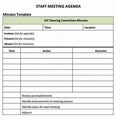 Schedule Of Meetings Template Staff Meeting Agenda 7 Free Download For Pdf