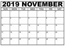 November Calendar Printable November 2019 Printable Calendar Free Blank Templates