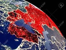 City Lights Palastic Black Sea Region At Night From Orbit Plastic Planet