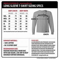 Sleeve Measurement Chart Dept Of Corrections Prison Long Sleeve T Shirt