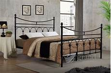 rome metal bed frame black style king