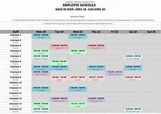 Work Schedule Creator Free Weekly Employee Shift Schedule Template Excel