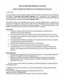 Job Proposal Letter Example Job Proposal Templates 10 Free Sample Word Pdf