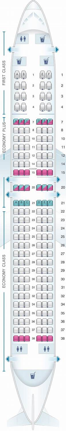 United Airlines Boeing 737 Seating Chart Seat Map United Airlines Boeing B737 800 Version 4