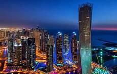 Dubai Night Lights Dubai Dubai Marina United Arab Emirates Town Night Lights
