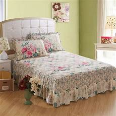 quilted thick bed skirt king size bed set