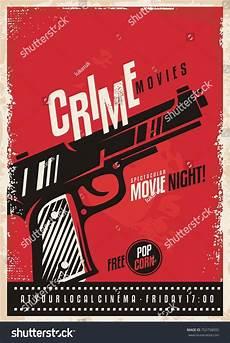 Crime Poster Design Crime Movies Poster Design Template Gun Stock Vector