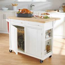 25 Portable Kitchen Islands Rolling Movable Designs Real Simple 174 Rolling Kitchen Island In White 300 Bed Bath