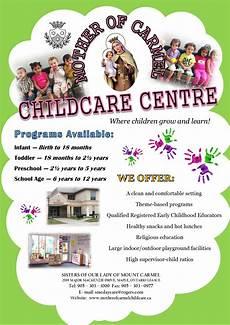 Child Care Flyer Design Daycare Mother Of Carmel