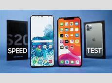 Samsung Galaxy S20 Ultra vs iPhone 11 Pro Max Speed Test