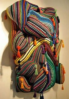 knitted wall sculpture at houston fair knit