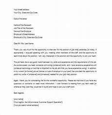 Thank You Letter After Getting The Job 12 Thank You Letter After Job Interview Doc Pdf Free