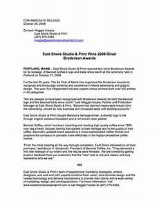 Format For Press Release How To Format A Press Release A Few Good Words