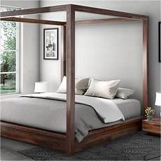 hshire rustic solid wood size canopy bed frame