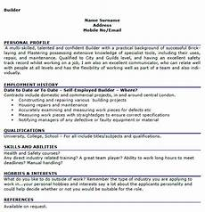 Personal Interest Resume Builder Cv Example Lettercv Com