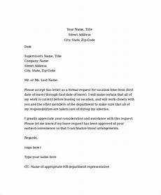 Emergency Vacation Request Letter Vacation Request Letter With Images Lettering Letter