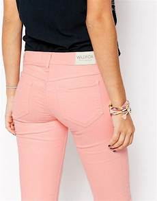 Light Pink Miss Me Jeans Wildfox Marianne Light Pink Skinny Jeans In Pink Lyst