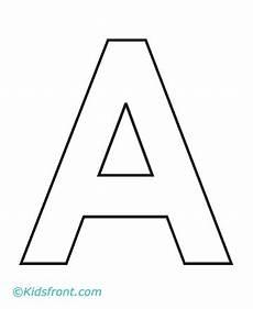 Ausmalbilder Einzelne Buchstaben A Dr Letter Work A