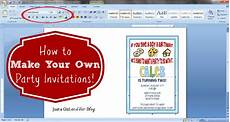 How To Make Invitations On Microsoft Word How To Make Your Own Party Invitations Abby Lawson