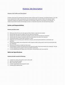 Hostess Job Description Resumes Hostess Job Description Resume Unique Hostess Job
