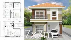 6 Bedroom House Design Ideas House Plans 7x7m With 3 Bedrooms Samhouseplans