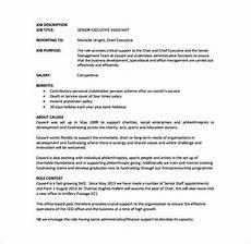 Senior Administrative Assistant Job Description 7 Executive Assistant Job Description Templates Free