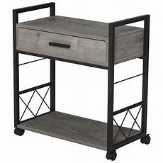 homcom industrial style side table with 1 drawer shelf