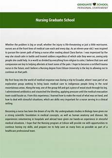 Personal Statement For Graduate School Examples The Best Personal Statement Examples Nursing Graduate School