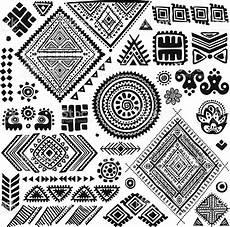 Indianische Muster Malvorlagen Auf Tribal Vintage Ethnic Pattern Set Illustration For Your