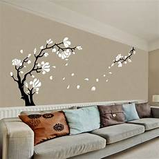 large size magnolia flower tree wall stickers