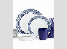 Corelle Brushed Cobalt Blue 16 Pc. Dinnerware Set, Service