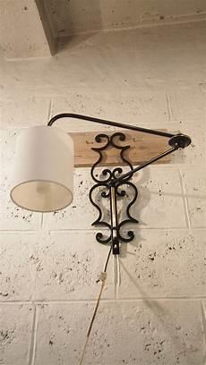 applique da parete in ferro battuto applique da parete regolabile in ferro battuto e ottone