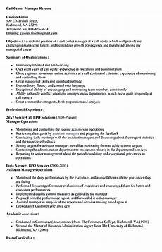 Resume For A Call Center Agent Call Center Resume For Professional With Relevant