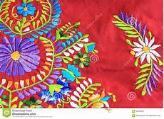 up of mexican embroidery design stock image image