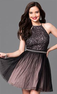 trendy sequined homecoming dresses promgirl